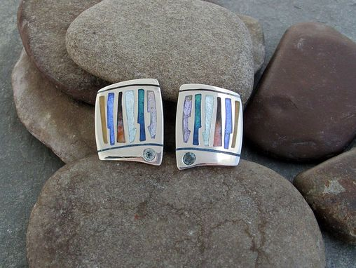 Custom Made Enamel And Zircon Earrings