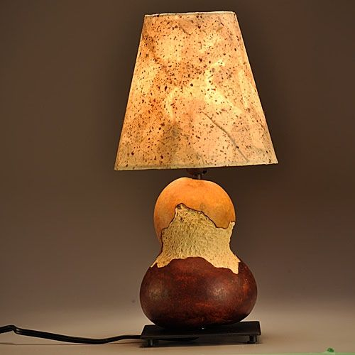 Hand Made Gourd Lamp Urban Design By Gourgeous Creations