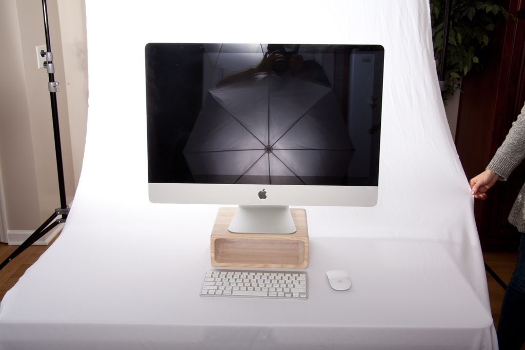 Lcd Stand Designs For Home : Hand crafted wooden computer monitor stand by steric