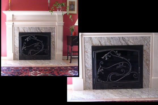 hand crafted custom wrought iron fireplace screen by nop 39 s
