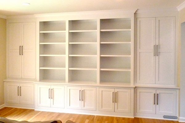 built in wall units shaker contemporary built in wall storage system