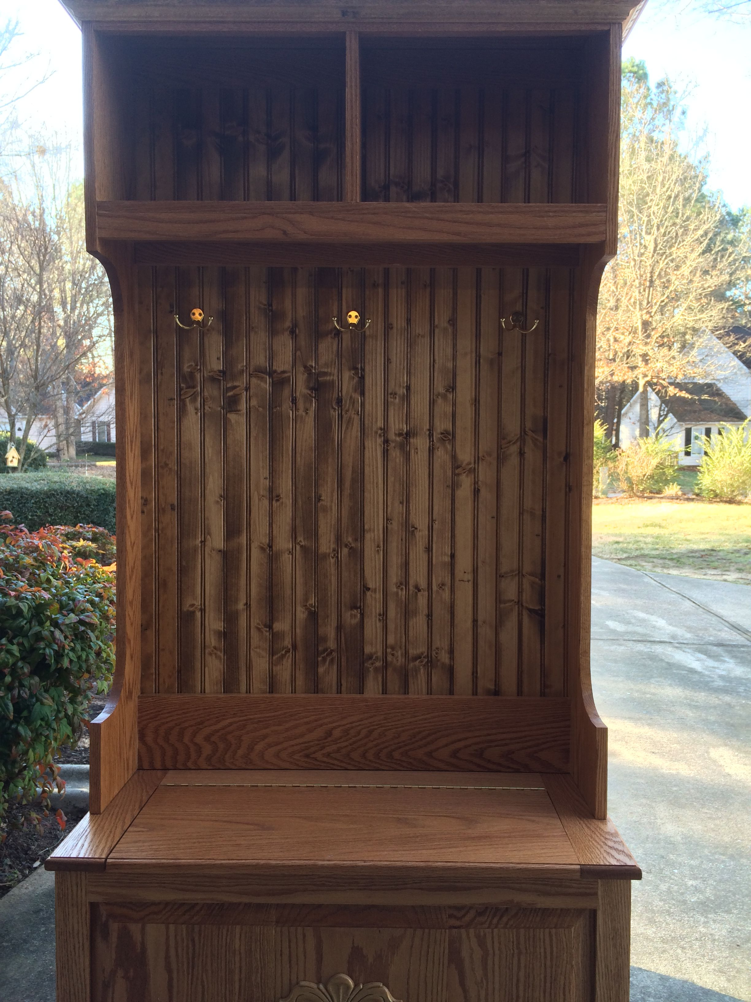 Buy A Custom Made Hall Tree Made To Order From Shaker