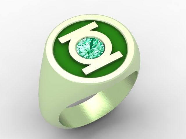 Green Lantern Ring Hand Crafted Gr...