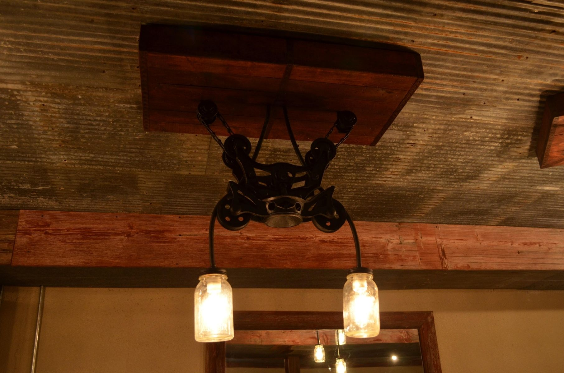 Hand Made Barn Pulley Light By Cutting Edge Renovations