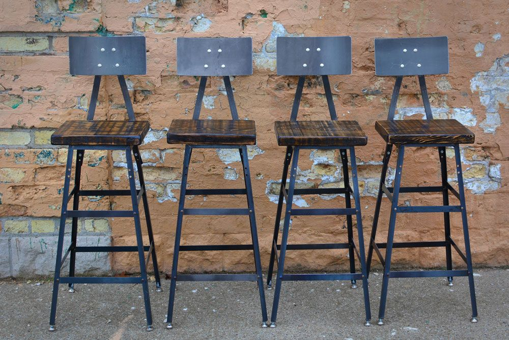 Buy A Custom Reclaimed Wood Bar Stool Made To Order From