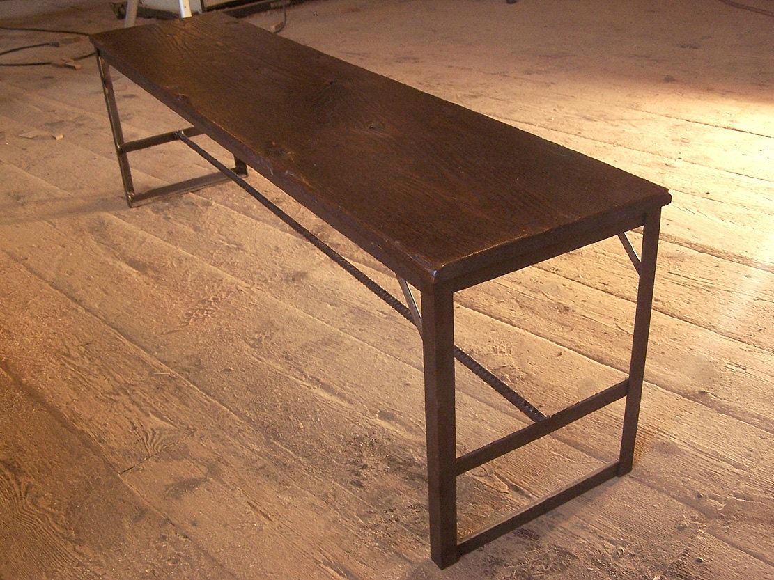 Buy A Hand Crafted Industrial Chic Bench From Reclaimed