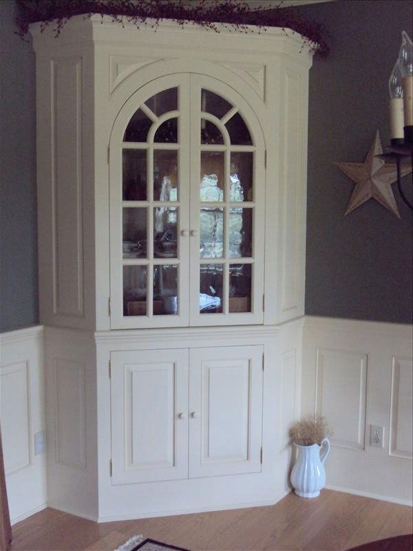 Hand Crafted Corner Hutch By Wood Connections Llc. Custom