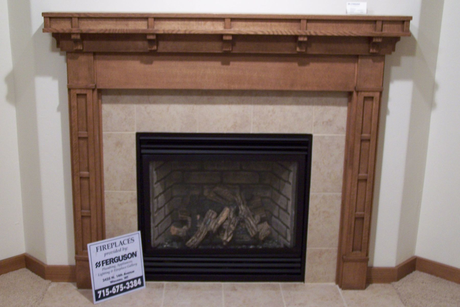 Handmade Craftsman Style Fireplace Surround By Custom