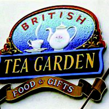 Custom Made British Tea Garden Wood Sign