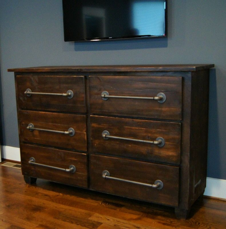 Hand Made Custom Industrial Rustic Dresser By Wooden Crow Company