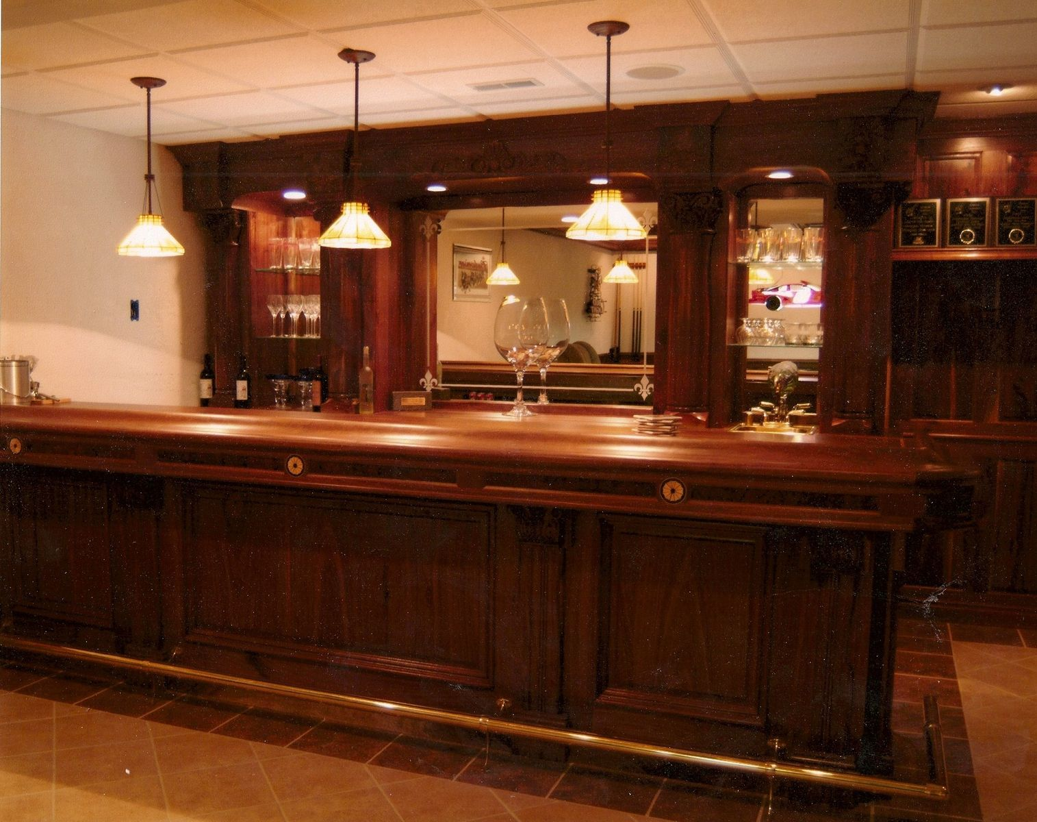 Custom Made Walnut Bar By Dugan S Woodworking Custommade Com