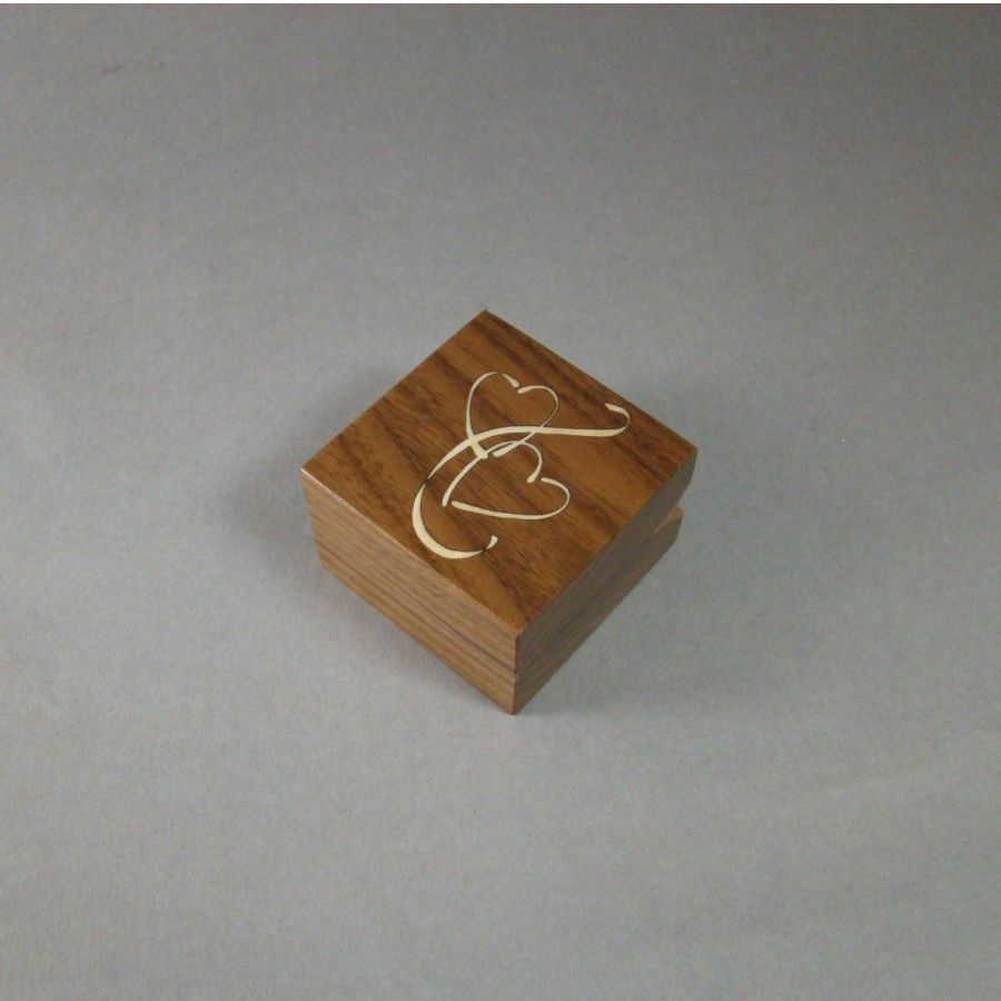 Buy a handmade engagement ring box with inlaid double for Custom made ring box