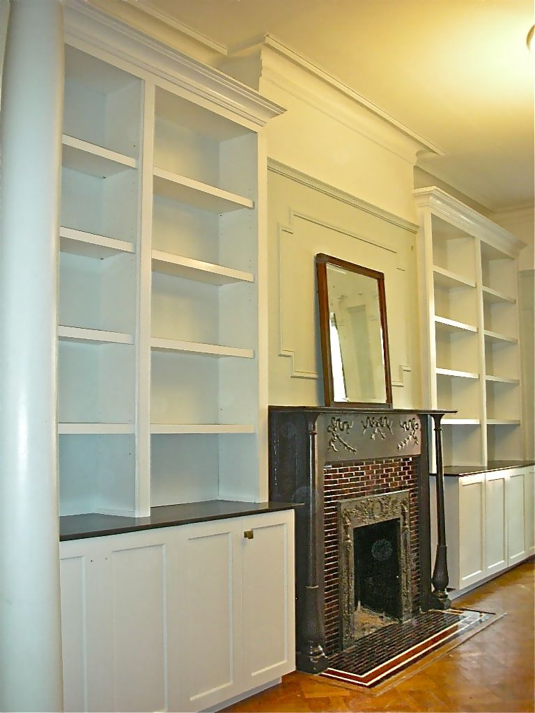 Custom Fireplace Surround Wall Unit By Hammer Time Studio