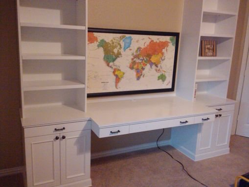 Custom Made Playroom Project W Toy Boxes, Bookcases & Desk