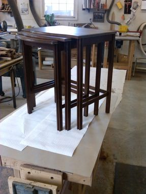 Custom Made Walnut Nesting Tables