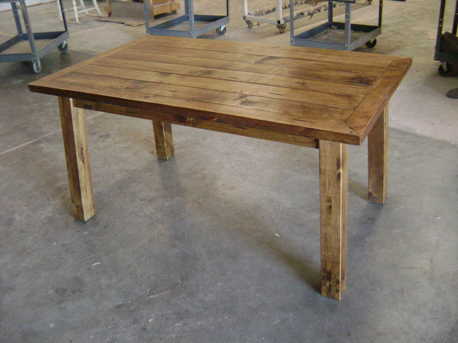 how to build a rustic kitchen table