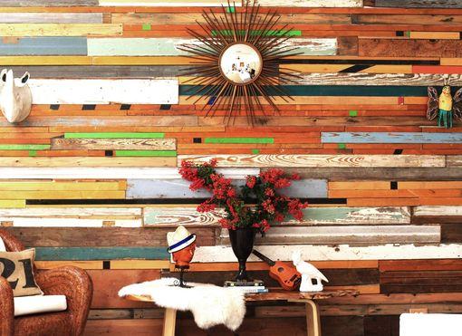 Custom Made Reclaimed Wood Wall Installations