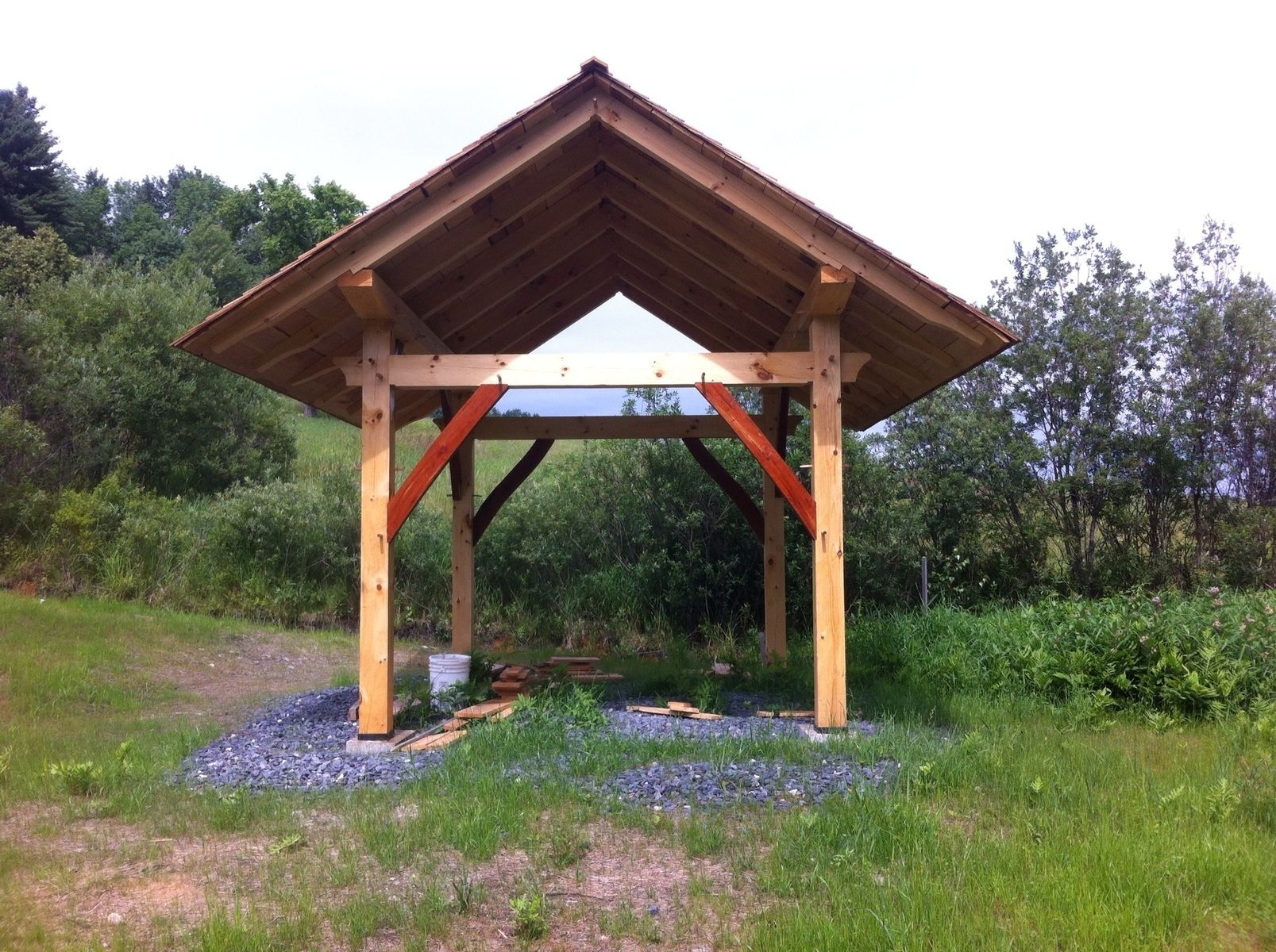 Hand Crafted Timber Frame Pavilion By Living Edge