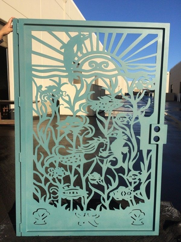 Buy A Hand Crafted Metal Gate Custom Nautical Ocean