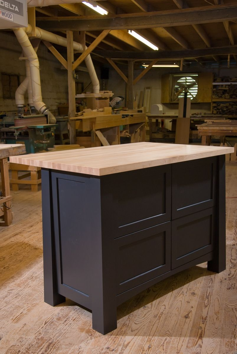 crafted custom kitchen island by against the grain