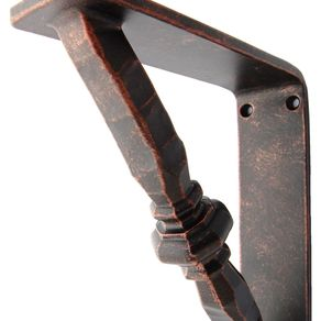 buy custom made black iron shelf brackets made to order