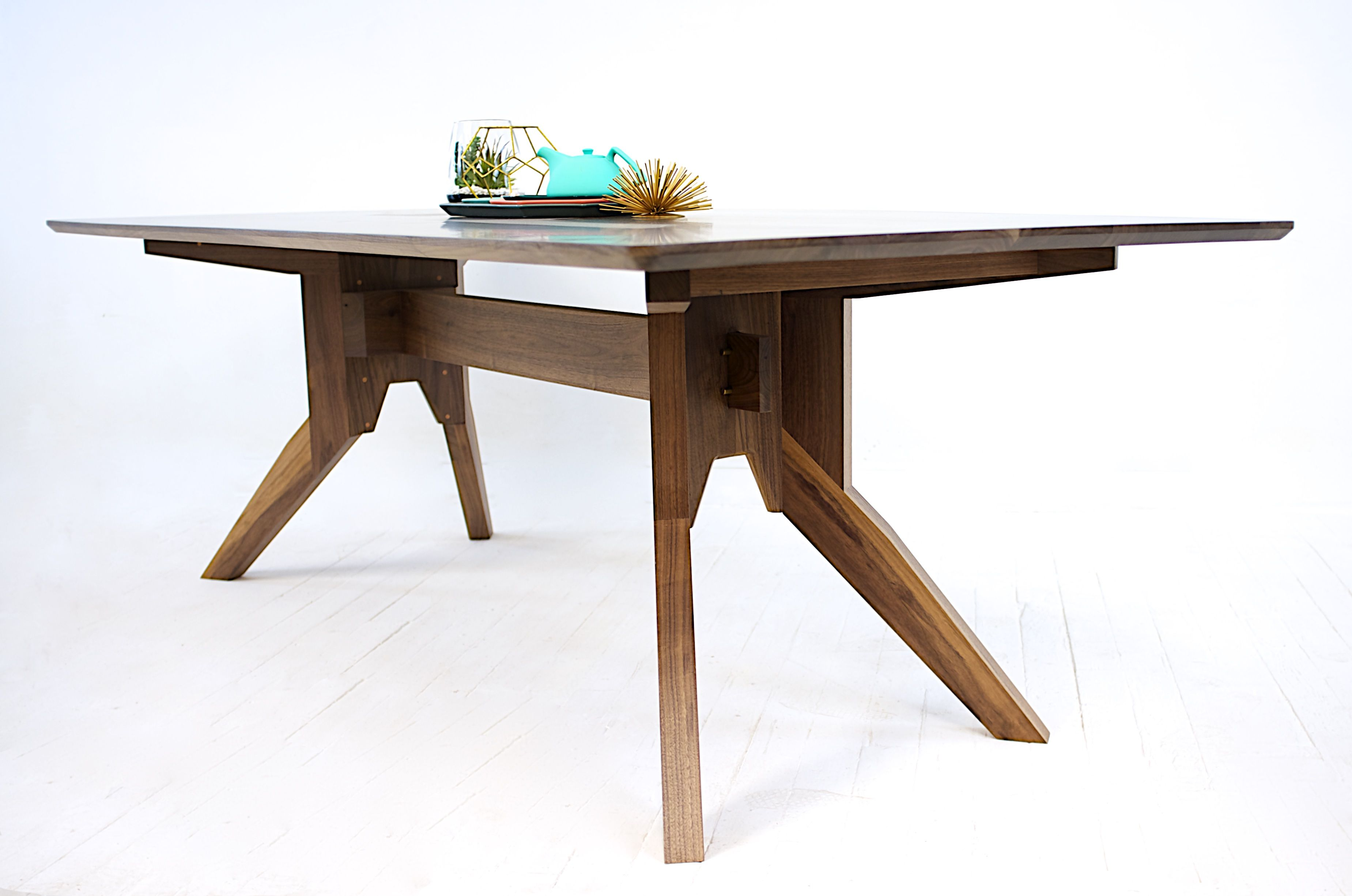Buy A Custom The Zoe Solid Walnut Modern Dining Table
