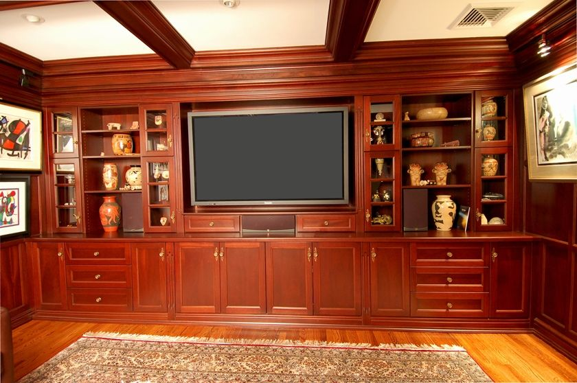 Hand Crafted Tv Wall Unit By Zci Woodworks Custommade Com