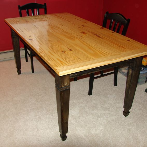Handmade Harvest Table By The Woodcraft Shoppe