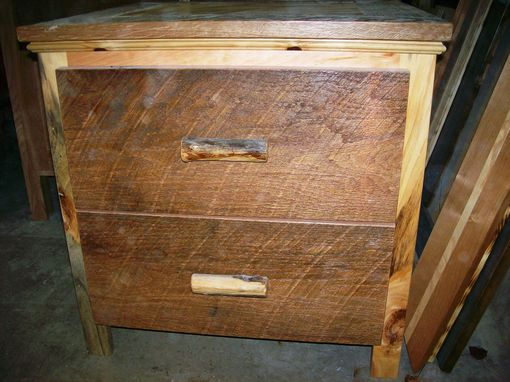 Custom Made Barnwood Nightstand (With Concealment)