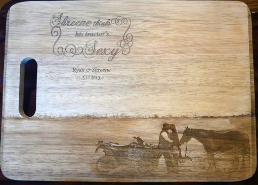 Custom Made Custom Personalized Engraved Hardwood Cutting Board W/ Scanned Handwriting & Document Restoration