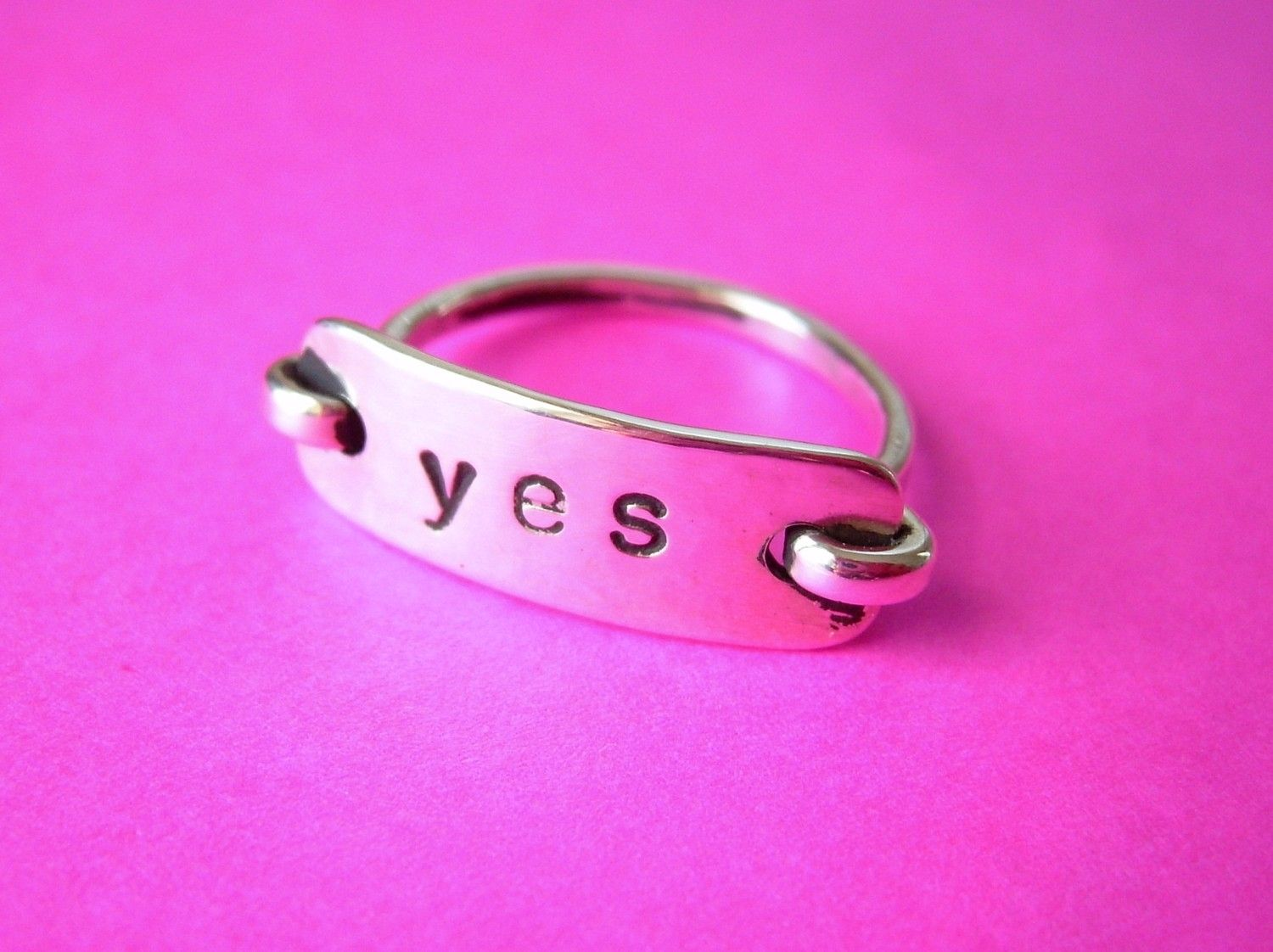 custom sterling silver promise ring with message by