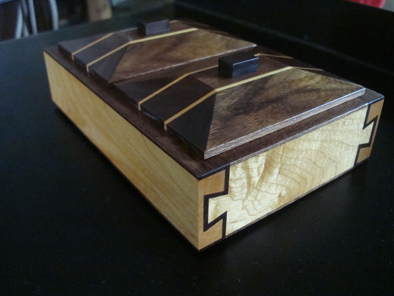 Hand Crafted Double Dovetail Precious Herb Box Hard Maple