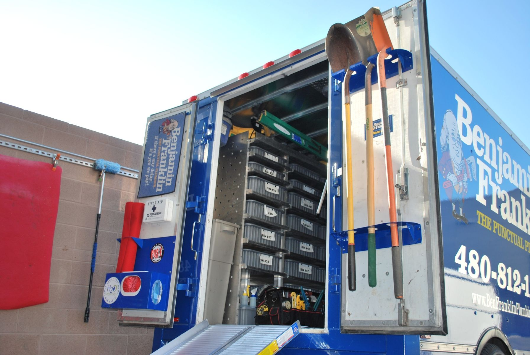 Custom Service Truck Organization Racks by Ck Valenti Designs, Inc