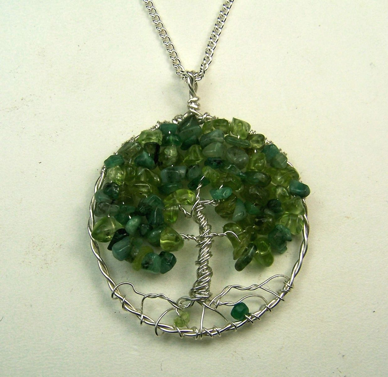Buy Hand Crafted Tree Of Life Necklace Emerald And