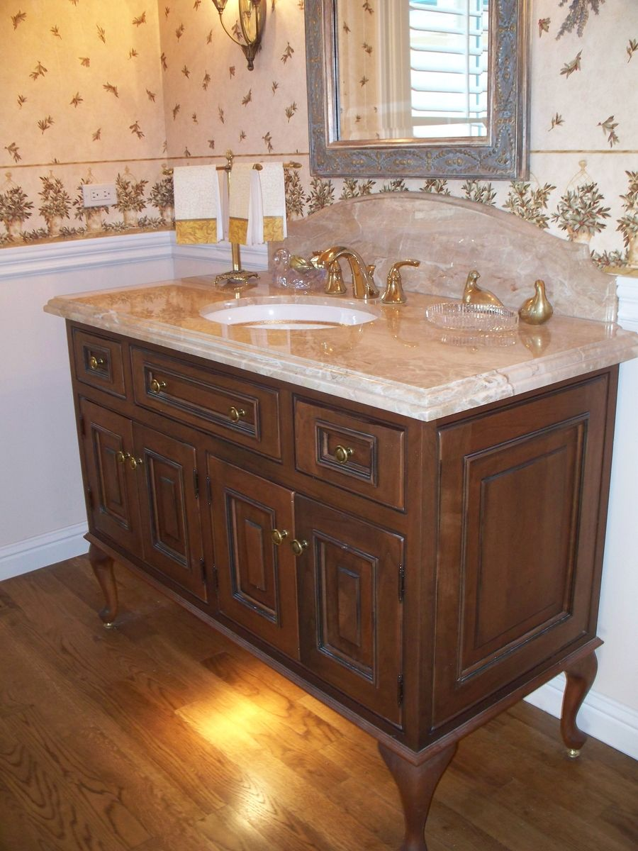 Custom Queen Ann Guest Bathroom By Cabinets Amp Design Iron