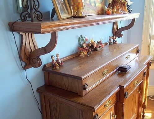 Custom Made Buffet And Mantle