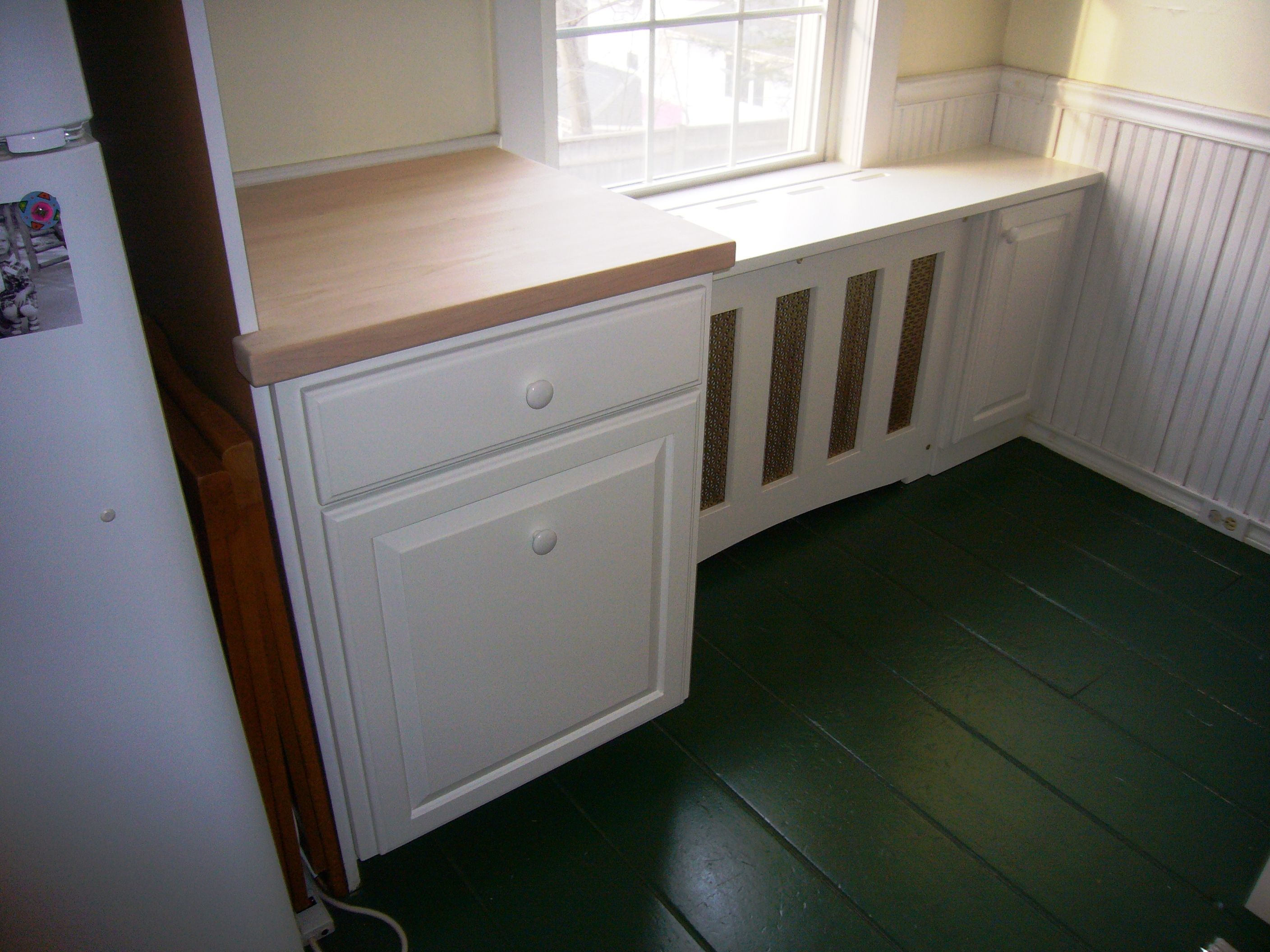Handmade kitchen cabinet and radiator cover by blair for Cabinet covers for kitchen cabinets