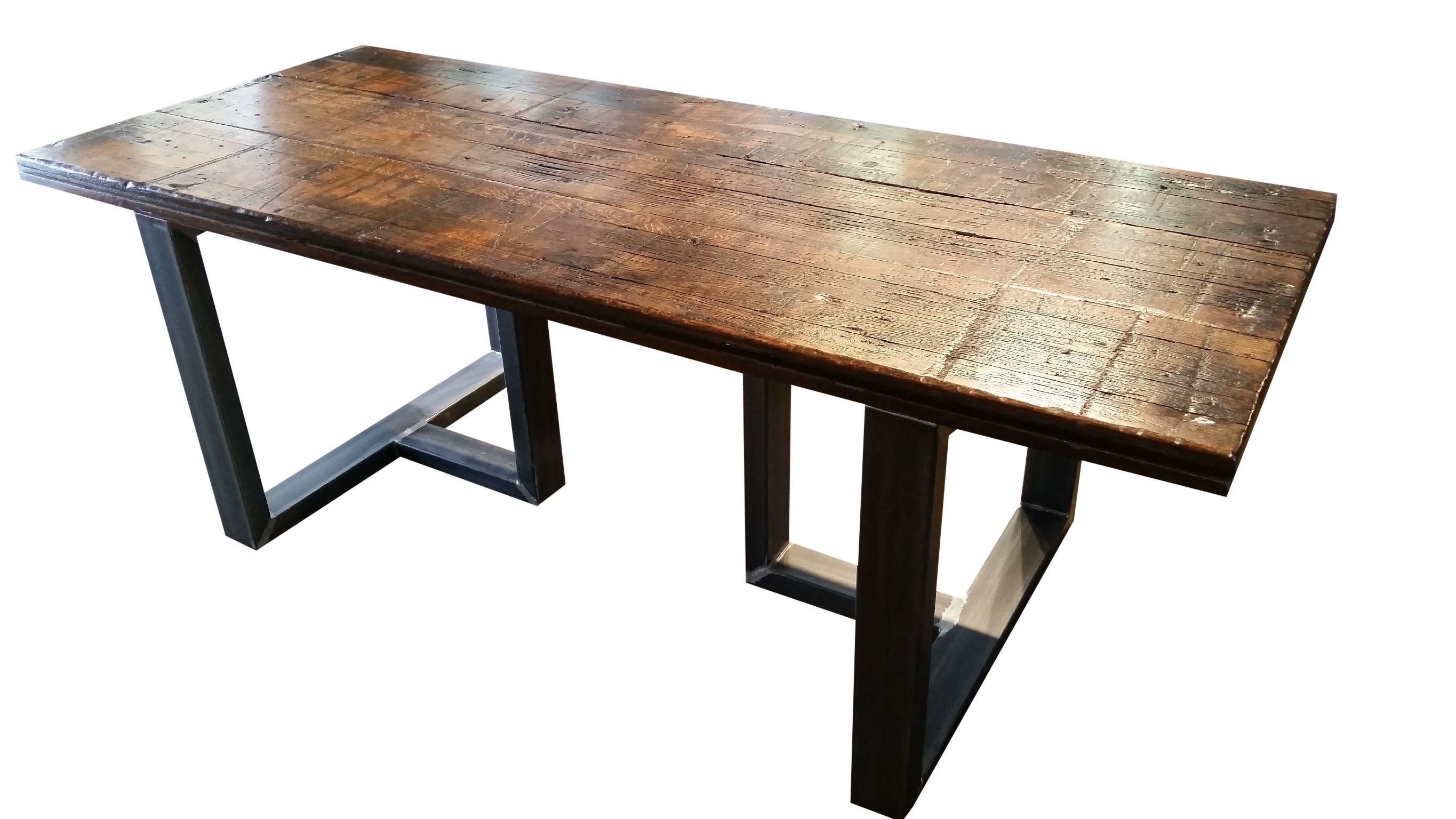 hand made reclaimed wood dining table by urban ironcraft With dining tables made from reclaimed wood