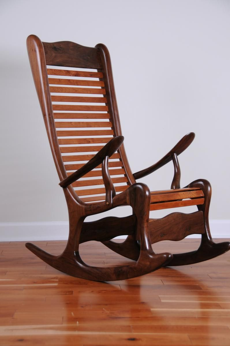 Custom Sculpted Rocking Chair by Virginia Mountain Woodworks, Llc ...