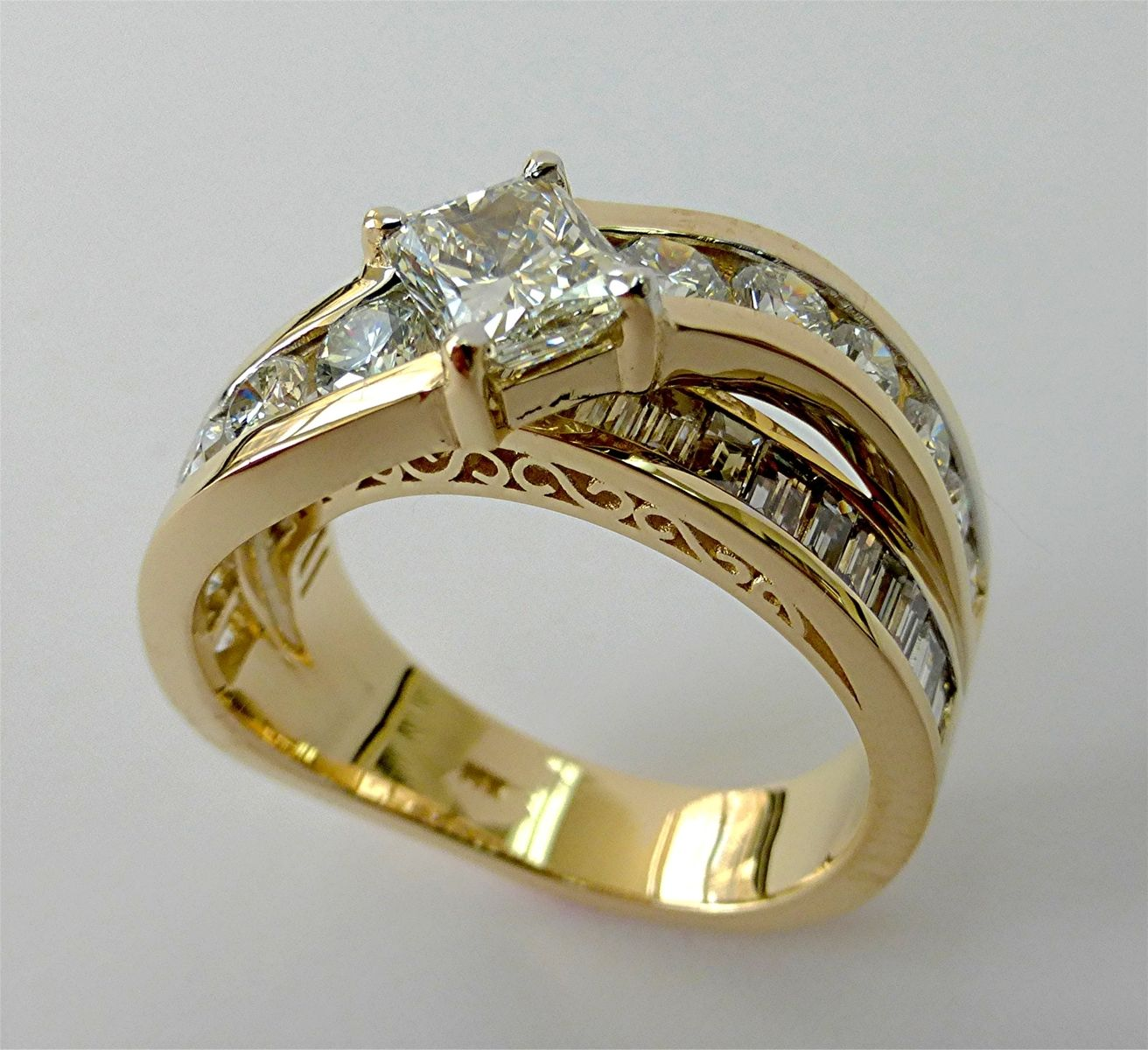 Hand made redesign of an old ring by limpid jewelry inc for Redesign wedding ring
