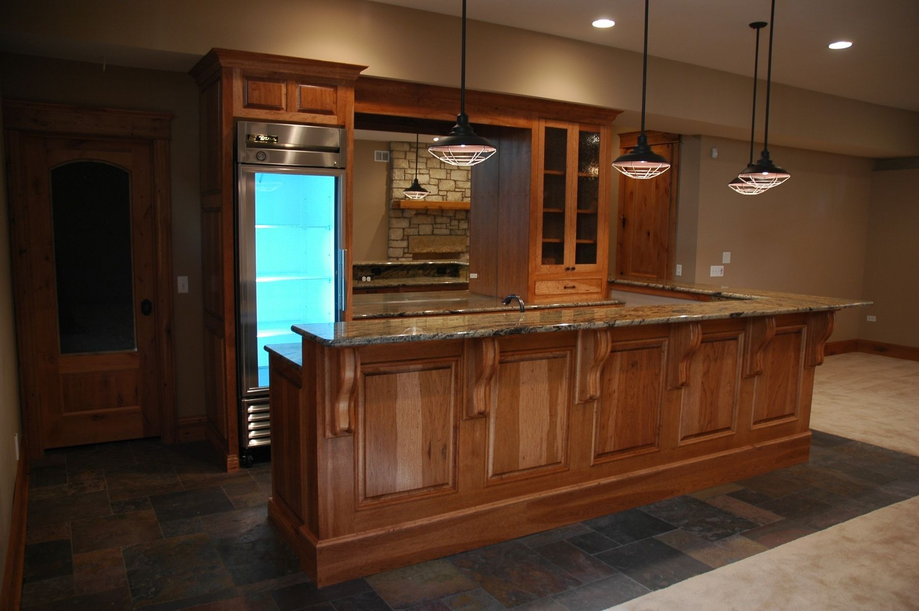 Custom hickory cabinets by custom corners llc - Custom made cabinet ...