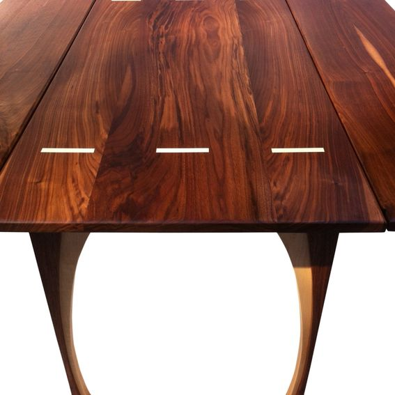 Hand Made Drop Leaf Dining Table Solid Walnut 48