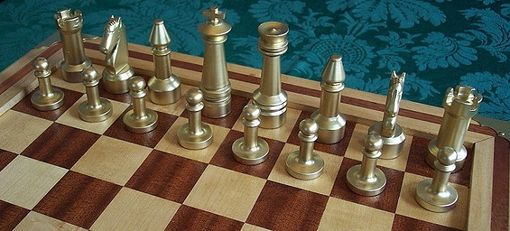 Custom Made Sapele And Maple Chess Set