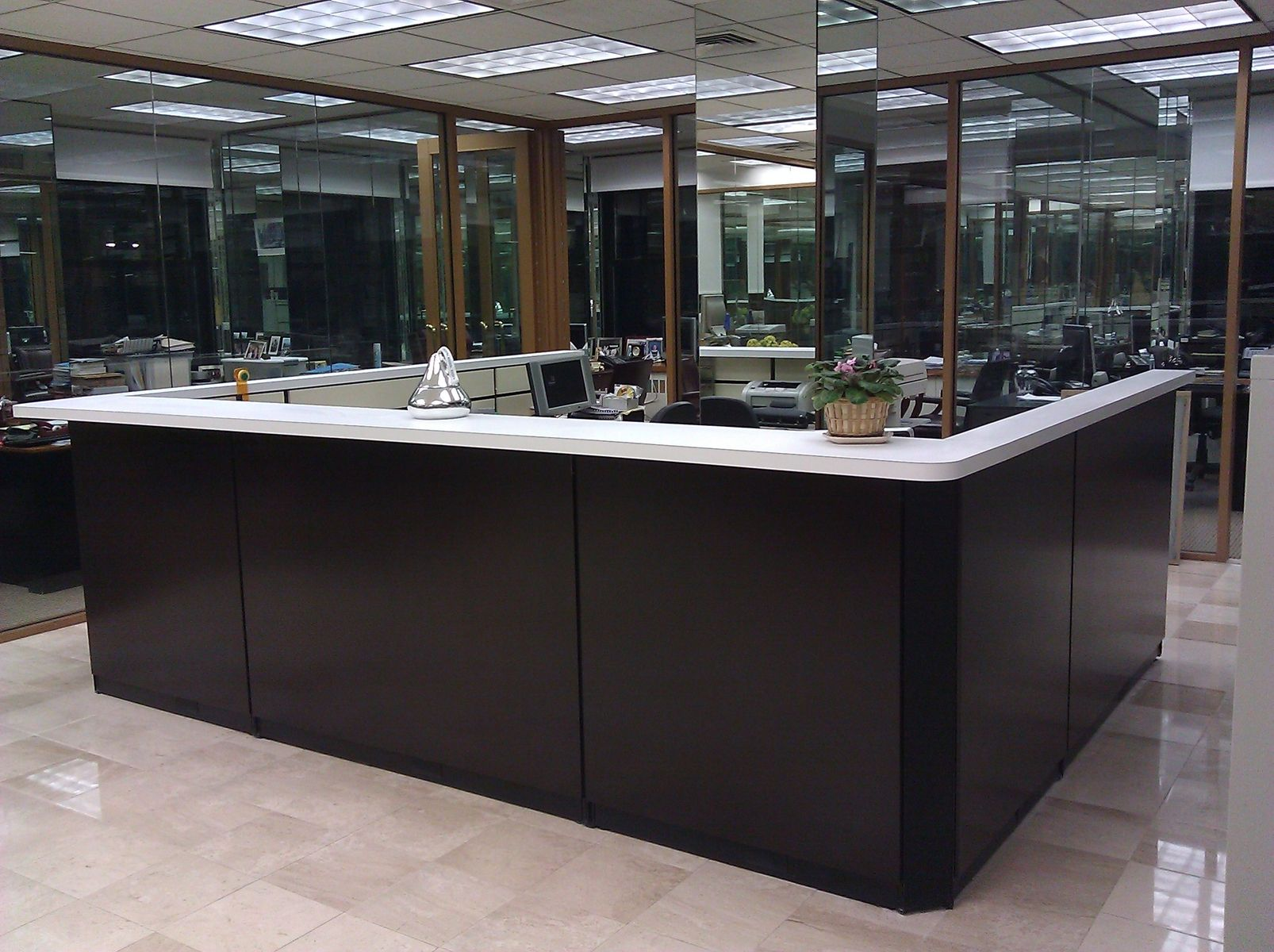 cool custom reception desk furniture | Custom Made Reception Desk by Bailey's Custom Designs ...
