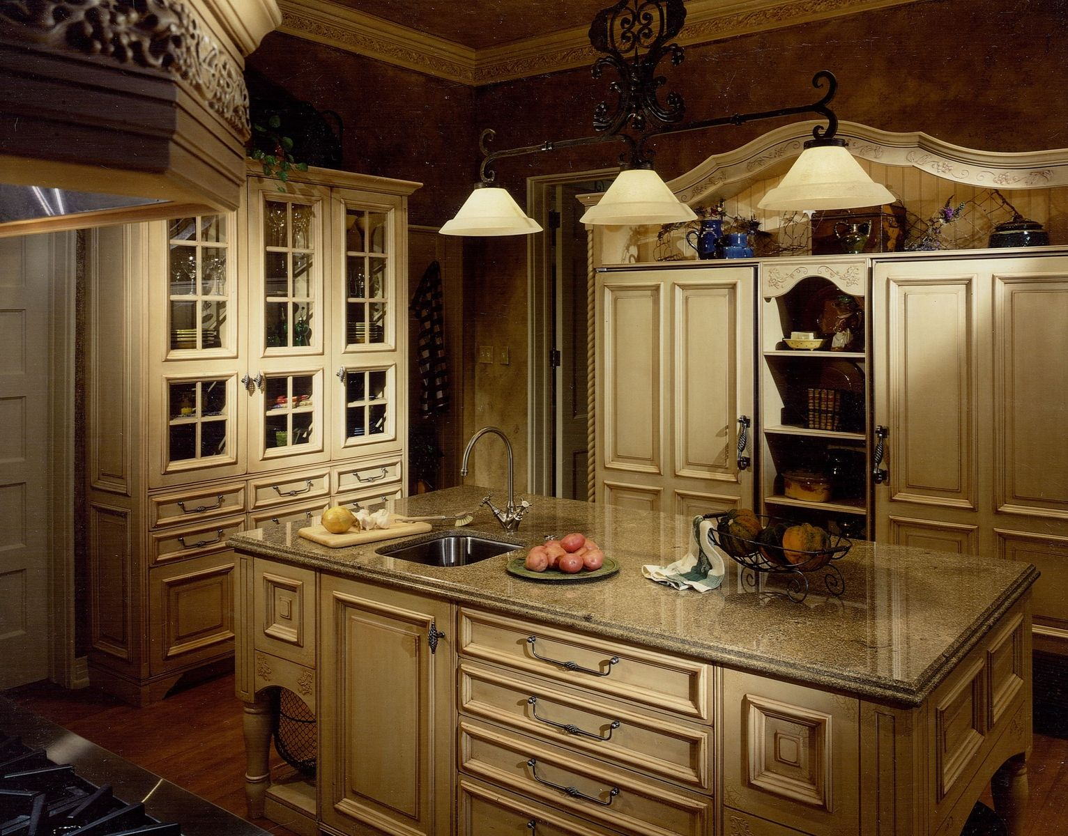 handmade furniturizing  french country kitchen remodel  cabinets design iron llc