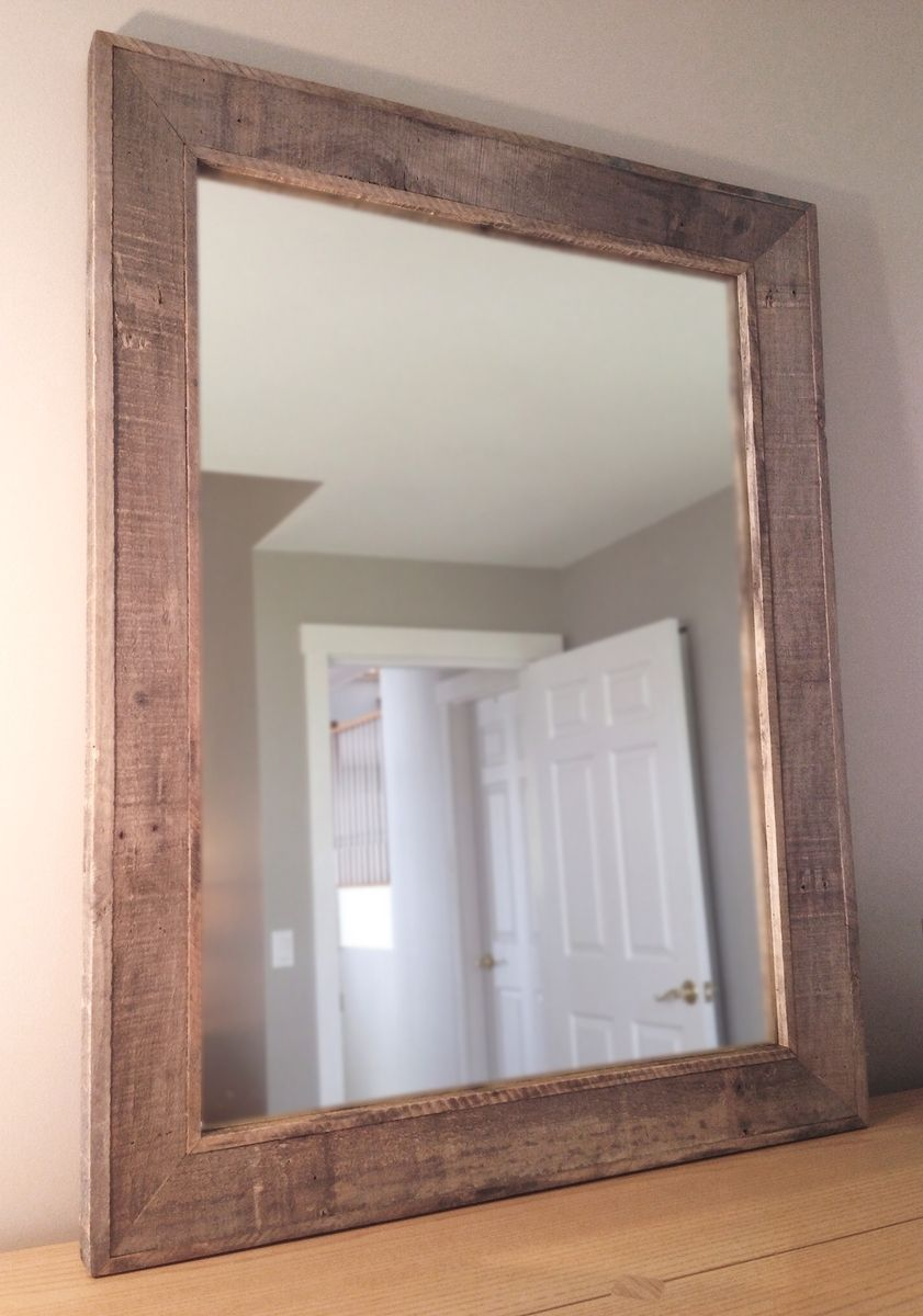 Hand Crafted Reclaimed Wood Mirror By Pulp Amp Ore