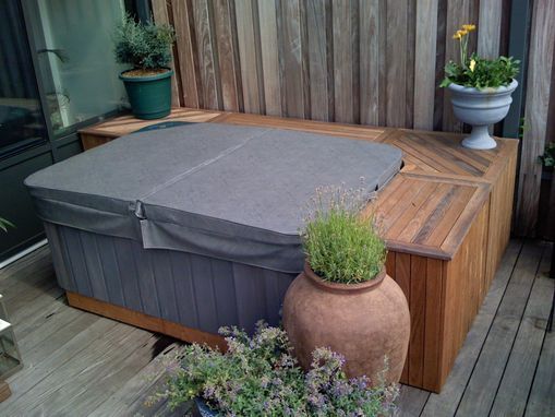 Custom Made Outdoor Grill And Hot Tub Storage