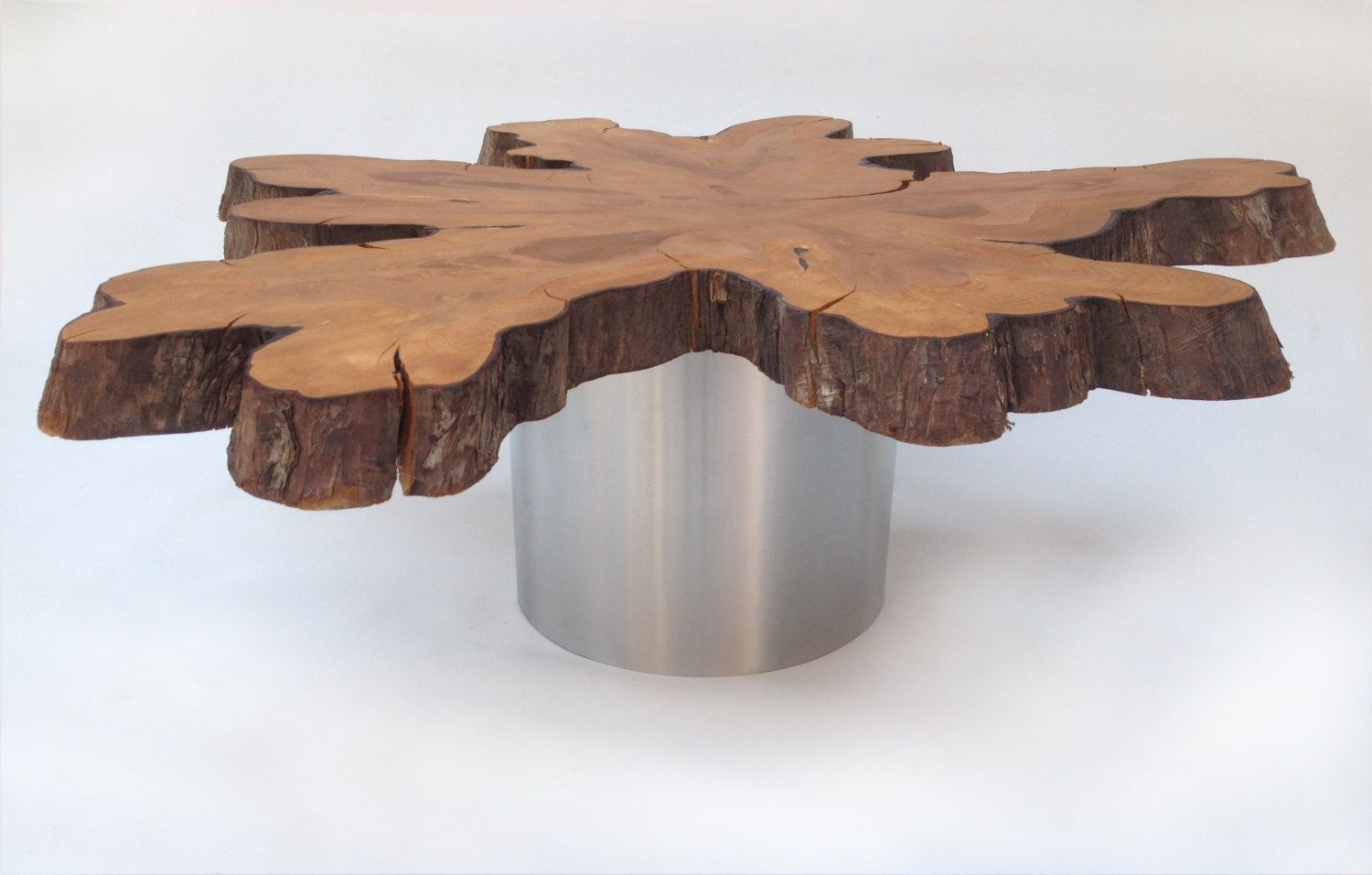 Natural Live Edge Slab Coffee Table