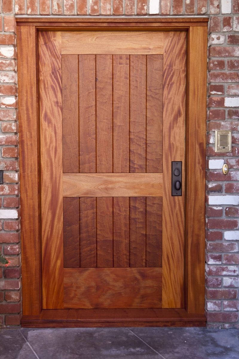 Hand made completely customized quilted mahogany and book for Oversized front door