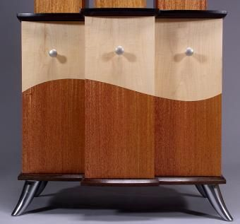 Custom Made Mahogany Architectural Dvd Storage Cabinet